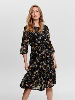 JDY Black Flower Emillia Dress