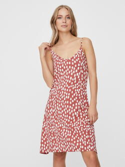 VERO MODA Röd / Marsala Birch Dot Dress