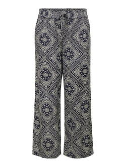 JDY Sky Captain, cloud Dancer Banana Starr life Wide Pants