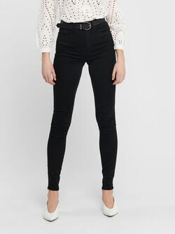ONLY svart ONLROYAL Life High Skinny Jeans