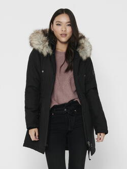 ONLY  Black/Gray Fur ONLIRIS Parka
