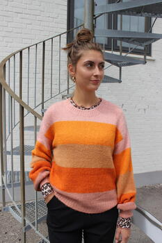 LIBERTÉ Rose Orange Stripe Bobbi Strik