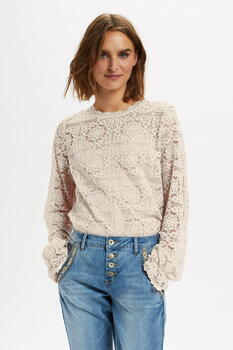 CREAM Eggnog CRTILEY Lace bluse