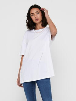ONLY White/Hvid ONLLAYA Life Oversized Top