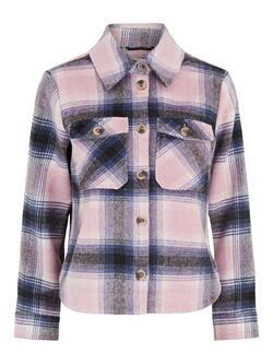 PIECES Pastell Lavendel Checks PCAMALIA Long Jacket