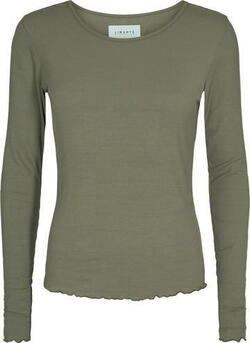 LIBERTÉ Dusty Army Natalia LS Round Neck Bluse