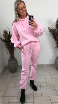 SISTERS POINT Pink PEVA Sweat Hoodie