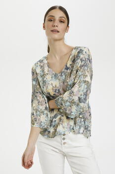 CREAM Blue Flower Mead CRDusta Bluse