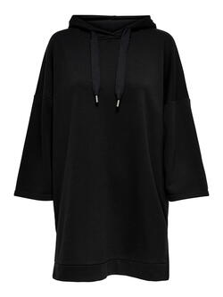 JDY Black/Sort  JDYAMALIE Sweat Tunic Hoodie