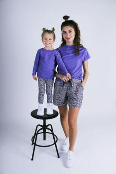 LIBERTÉ Purple Flower Alma KIDS Leggings