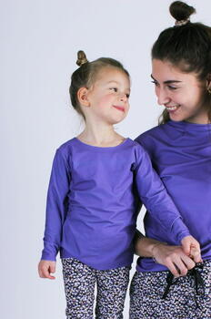 LIBERTÉ Purple Alma LS KIDS Top