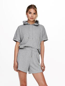 JDY Light Grey JDYCINDI Life Sweat Hoodie