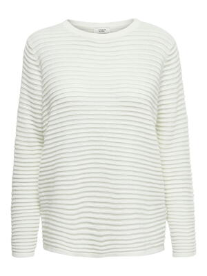 JDY White / Cloud Dancer Knit Blouse