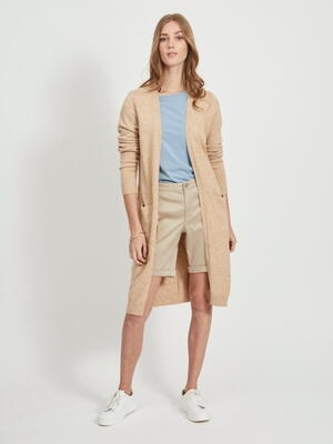 VILA Nomad Melange Viril Long Strikket Cardigan