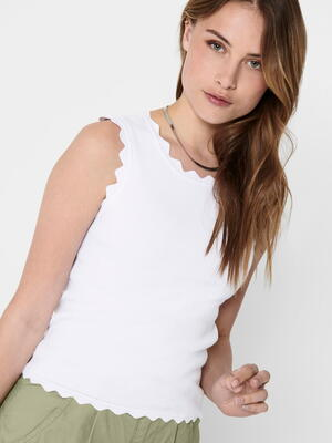 JDY Bright White Delilah Top