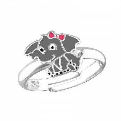 Ring - justerbar elefant Sterling Silver 925