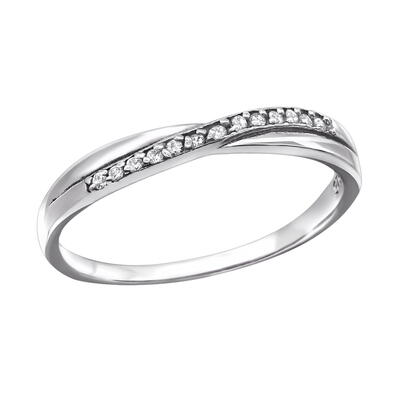 Ring sterling silver 925 med Zirconia sten