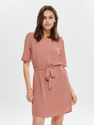 JDY Pink / Old Rose Belt Dress