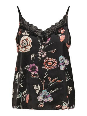JDY Sort/Black Flower Top