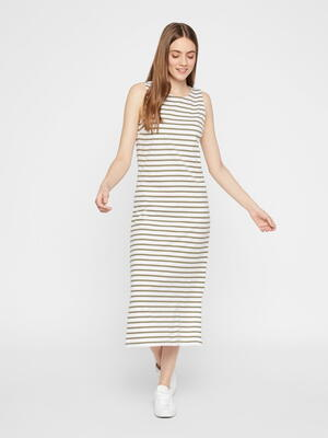 Pieces Green / Bright White Kidi Dress