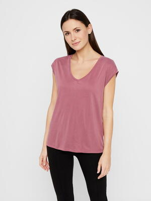 PIECES Pink/Dry Rose Kamala T-shirt