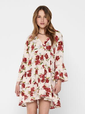JDY Barbados Cherry Big Flower Starr Life Dress