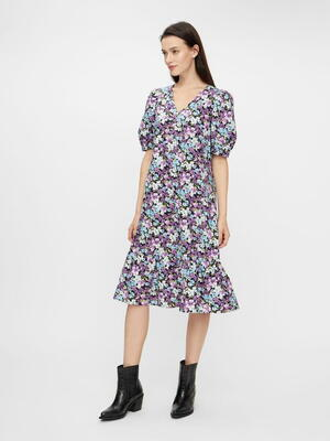 PIECES Black Flowers PCYRSA Dress