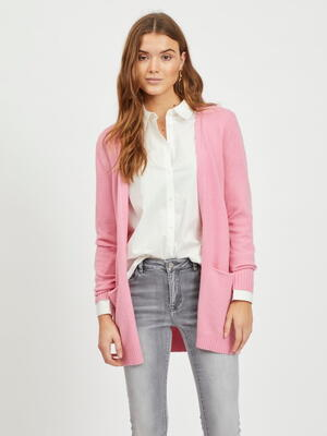 VILA Wild Rose Viril Open Strikket Cardigan