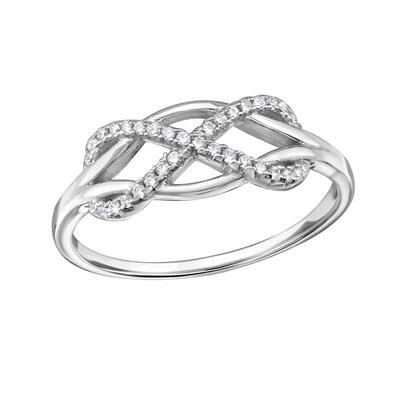 Ring Sterling Silver 925 Infinity med Cubic Zirconia sten