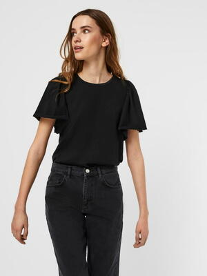VERO MODA Black/Sort VMONELLA Top