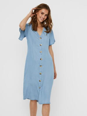 VERO MODA Light Blue Denim VMVIVIANA Kjole